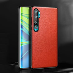 Soft Luxury Leather Snap On Case Cover R08 for Xiaomi Mi Note 10 Red