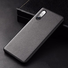 Soft Luxury Leather Snap On Case Cover S01 for Huawei Enjoy 10e Black