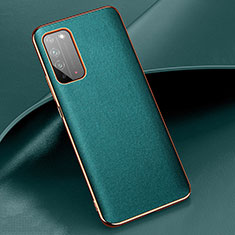Soft Luxury Leather Snap On Case Cover S01 for Huawei Honor X10 5G Cyan