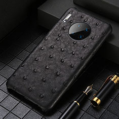 Soft Luxury Leather Snap On Case Cover S01 for Huawei Mate 30 Pro 5G Black