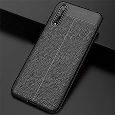 Soft Luxury Leather Snap On Case Cover S01 for Huawei Y8p Black