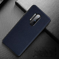 Soft Luxury Leather Snap On Case Cover S01 for OnePlus 8 Pro Blue