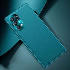 Soft Luxury Leather Snap On Case Cover S01 for Oppo Reno5 Pro 5G Cyan