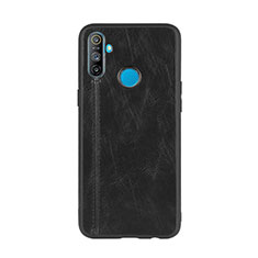 Soft Luxury Leather Snap On Case Cover S01 for Realme C3 Black