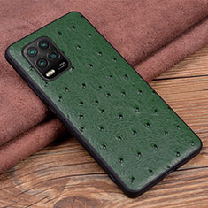 Soft Luxury Leather Snap On Case Cover S01 for Xiaomi Mi 10 Lite Green