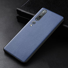 Soft Luxury Leather Snap On Case Cover S01 for Xiaomi Mi 10 Pro Blue