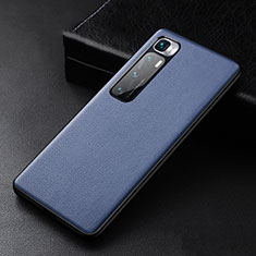Soft Luxury Leather Snap On Case Cover S01 for Xiaomi Mi 10 Ultra Blue