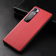 Soft Luxury Leather Snap On Case Cover S01 for Xiaomi Mi 10 Ultra Red