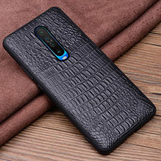 Soft Luxury Leather Snap On Case Cover S01 for Xiaomi Redmi K30 5G Black