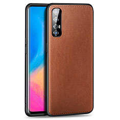 Soft Luxury Leather Snap On Case Cover S02 for Oppo Find X2 Neo Brown