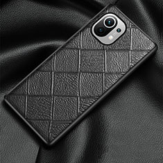 Soft Luxury Leather Snap On Case Cover S02 for Xiaomi Mi 11 5G Black