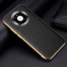 Soft Luxury Leather Snap On Case Cover S03 for Huawei Mate 40 Black