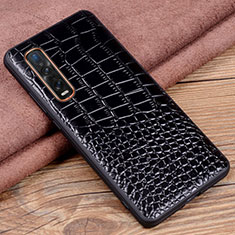 Soft Luxury Leather Snap On Case Cover S03 for Oppo Find X2 Pro Black