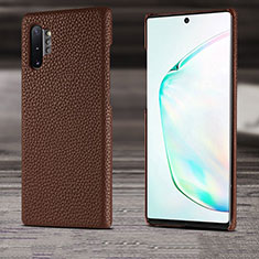 Soft Luxury Leather Snap On Case Cover S03 for Samsung Galaxy Note 10 Plus 5G Brown
