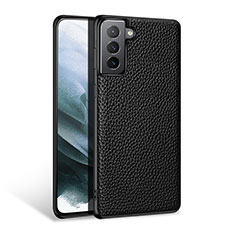 Soft Luxury Leather Snap On Case Cover S03 for Samsung Galaxy S21 Plus 5G Black