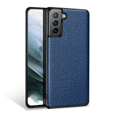 Soft Luxury Leather Snap On Case Cover S03 for Samsung Galaxy S21 Plus 5G Blue