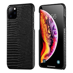 Soft Luxury Leather Snap On Case Cover S04 for Apple iPhone 11 Pro Max Black