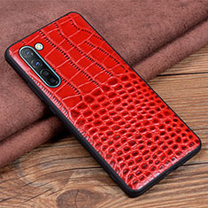Soft Luxury Leather Snap On Case Cover S04 for Oppo Find X2 Lite Red