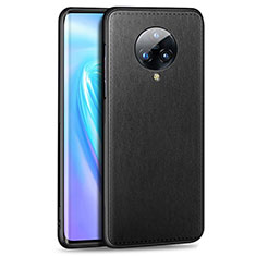 Soft Luxury Leather Snap On Case Cover S04 for Vivo Nex 3 Black