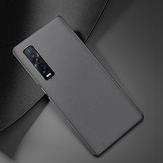 Soft Luxury Leather Snap On Case Cover S05 for Oppo Find X2 Pro Gray