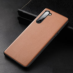 Soft Luxury Leather Snap On Case Cover S05 for Oppo K7 5G Brown
