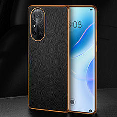 Soft Luxury Leather Snap On Case Cover S07 for Huawei Nova 8 5G Black