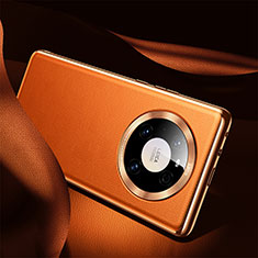 Soft Luxury Leather Snap On Case Cover S08 for Huawei Mate 40 Orange