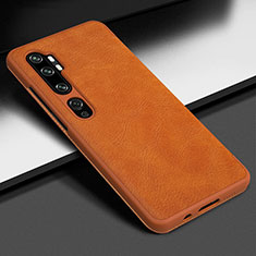 Soft Luxury Leather Snap On Case Cover Z01 for Xiaomi Mi Note 10 Orange
