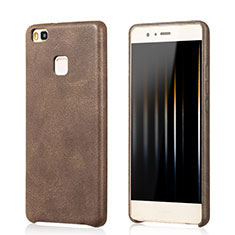 Soft Luxury Leather Snap On Case for Huawei G9 Lite Brown