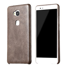 Soft Luxury Leather Snap On Case for Huawei GR5 Brown