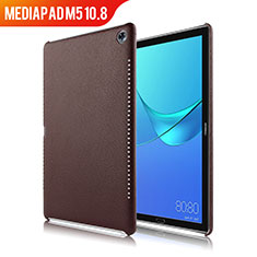 Soft Luxury Leather Snap On Case for Huawei MediaPad M5 10.8 Brown
