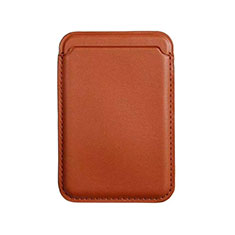 Soft Luxury Leather Wallet with Mag-Safe Magnetic for Apple iPhone 12 Pro Brown