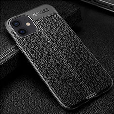 Soft Silicone Gel Leather Snap On Case Cover for Apple iPhone 12 Black