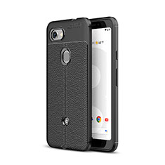 Soft Silicone Gel Leather Snap On Case Cover for Google Pixel 3a Black