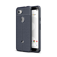 Soft Silicone Gel Leather Snap On Case Cover for Google Pixel 3a Blue