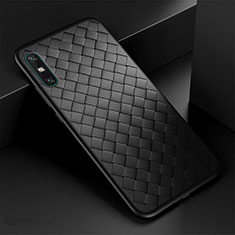 Soft Silicone Gel Leather Snap On Case Cover for Huawei Enjoy 10e Black