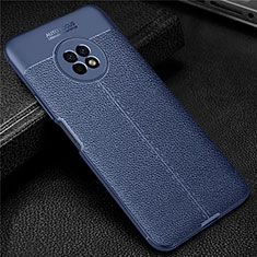 Soft Silicone Gel Leather Snap On Case Cover for Huawei Enjoy 20 Plus 5G Blue
