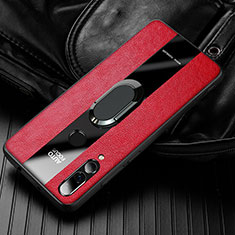 Soft Silicone Gel Leather Snap On Case Cover for Huawei Enjoy 9s Red