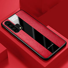 Soft Silicone Gel Leather Snap On Case Cover for Huawei Honor 20 Pro Red