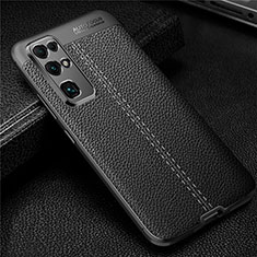Soft Silicone Gel Leather Snap On Case Cover for Huawei Honor 30 Black