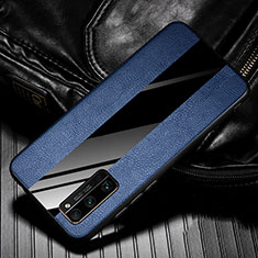 Soft Silicone Gel Leather Snap On Case Cover for Huawei Honor 30 Pro+ Plus Blue