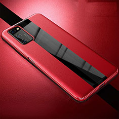 Soft Silicone Gel Leather Snap On Case Cover for Huawei Honor View 30 5G Red