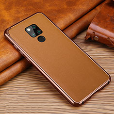 Soft Silicone Gel Leather Snap On Case Cover for Huawei Mate 20 X 5G Brown