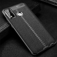 Soft Silicone Gel Leather Snap On Case Cover for Huawei P Smart (2020) Black