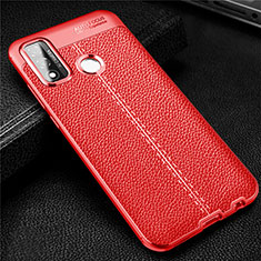 Soft Silicone Gel Leather Snap On Case Cover for Huawei P Smart (2020) Red