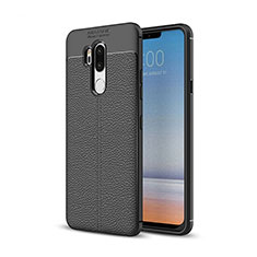 Soft Silicone Gel Leather Snap On Case Cover for LG G7 Black