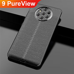 Soft Silicone Gel Leather Snap On Case Cover for Nokia 9 PureView Black