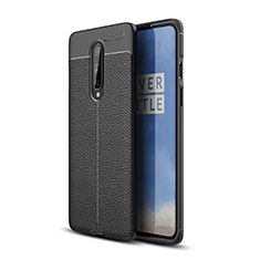 Soft Silicone Gel Leather Snap On Case Cover for OnePlus 8 Black