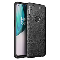 Soft Silicone Gel Leather Snap On Case Cover for OnePlus Nord N10 5G Black