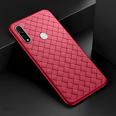 Soft Silicone Gel Leather Snap On Case Cover for Oppo A31 Red